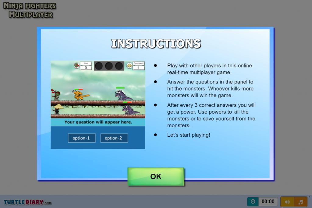 ninja figheer multiplayer typing games